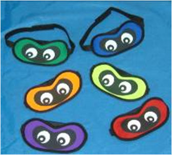 Blindfolds - set of 6 colors