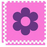Puzzle mats-Pink w/Flower