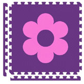 Puzzle Mats-Purple w/Star