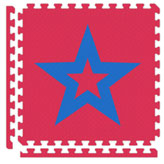 Puzzle Mats-Red w/ Star