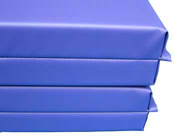 blue gymnastic mats