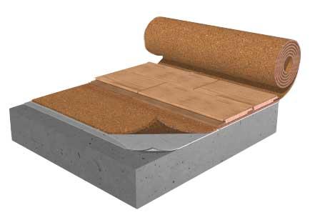 Acousticork R60 Cork Underlayment Rolls And S130 Cork Underlay