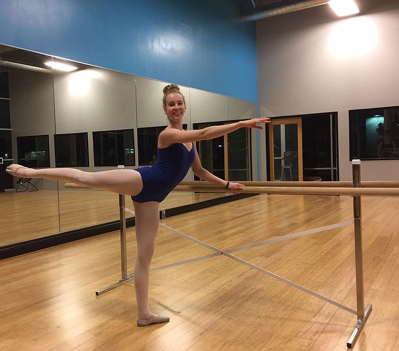 Portable Ballet Floor : Free shipping for ballet bars wall mounted or portable