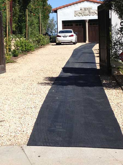 Drive-way rubber