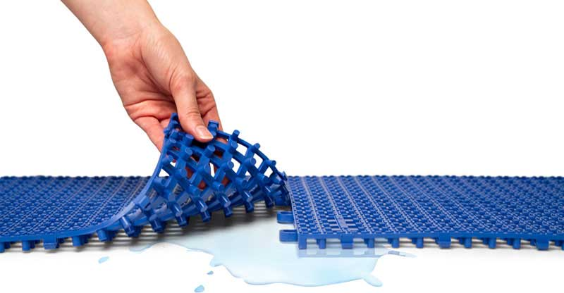 Plastic Interlocking Floor Tiles For Patio Decking