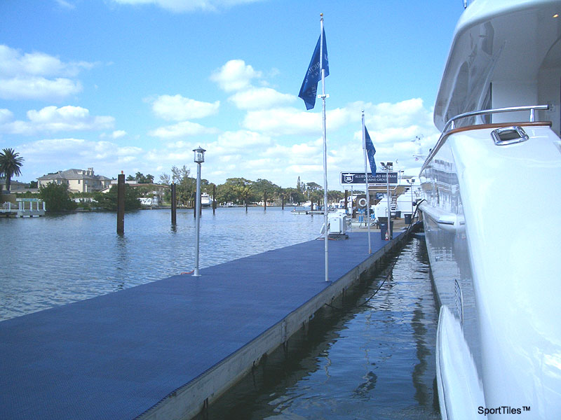 boat dock walkway tiles