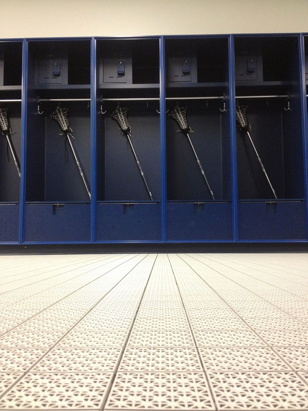 locker-room flooring