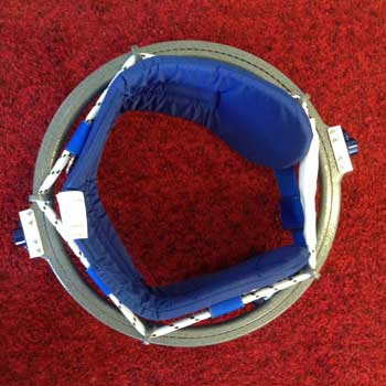 Bungee View of gymnastic spotting belt