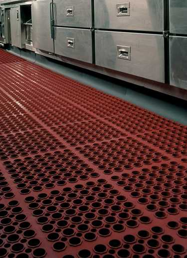 Industrial mats for kitchens for Commercial kitchen floor mats