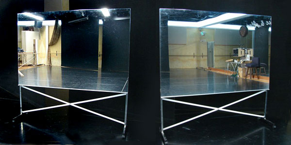 rollable glassless dance mirror