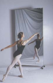 Buy Glassless Dance Mirrors On Wheels Portable And