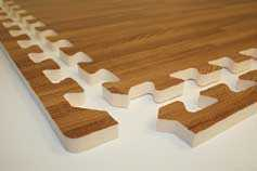 Wood Grain Puzzle Mat
