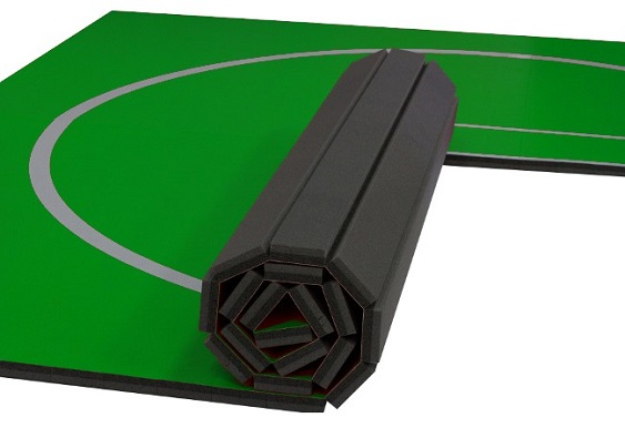 green grappling mats